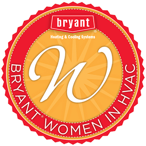 Bryant Women in HVAC Home Page Logo